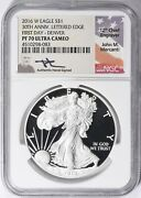 2016 W Silver Eagle Ngc Pf70 Uc First Day Issue - Mercanti - Denver