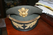 Vintage Wwii Collectible Morry Luxenberg Officers Army Air Corp Dress Cap Hat