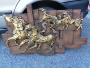 Vintage 60and039s Finesse Originals Mid Century Brutalist Style Horse Wall Sculpture