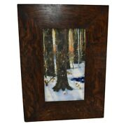 Art Accardi Arts And Clay Company Pottery 2013 Winter Scene Framed Tile