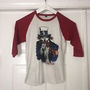 """Pearl Jam Uncle Sam """"no Clowns"""" 16 T-shirt North American Tour Size Med"""