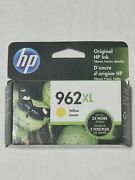 New Hp Genuine Cartridge 962xl Yellow Sealed Exp 10/2021 Or Later