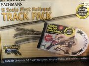 Bachmann N Your 1st Railroad E-z Track Pack 4.67'x28 Layout W/dvd Bac44896 New