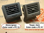 04-10 Toyota Sienna Passenger Side Right Rh Dash Air Vent Climate Oem Stone Gray