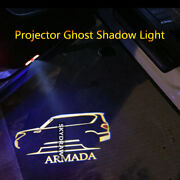 1 Pair For Nissan Armada 2012-2021 Led Car Door Welcome Projector Shadow Light