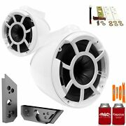 Wet Sounds Rev8w-x 8 White Tower Speakers With Malibu G5 Tower Adapters