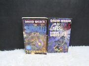 Lot Of 2 David Weber Paperback Books, The Shiva Option And In Death Ground