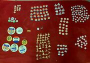 Large Collection Over 80 Political Buttons Richard Nixon Click With Dick Lodge