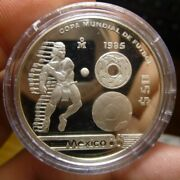 1985 Mexico 50 Pesos Silver Proof World Cup