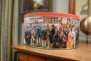 Large Jacobsens Danish Butter Cookie Tin A Day At The Races Karel Kopec
