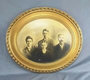 Vintage Oval Wooden Picture Family Photo Frame Antique No Glass