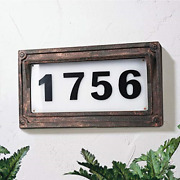 Solar Powered House Numbers, Address Sign Led Outdoor Plaque Lighted Up For Home
