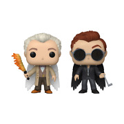 Good Omens Funko Pop Aziraphel And Crowley With Wings 2-pack In Hand Nm To Mint