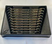 Snap On 10 Pc Metric Dual Sided Wrench And Ratchet Set 10mm-19mm Oexrm 12 Point