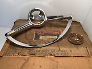 Nos Willys Jeep Steering Wheel Horn Bar And Ring Contact 63-72 Wagoneer Gladiator
