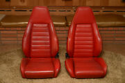 Porsche Sport Seats 1980s - Two Factory Seats - Red Leather - 911, 930, 944