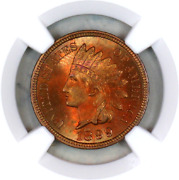 1899 Ms65 Rb Ngc Indian Head Penny Premium Quality Superb Eye Appeal