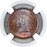 1899 Ms66 Bn Ngc Indian Head Penny Premium Quality Superb Eye Appeal