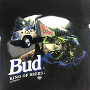 Budweiser Vintage T Shirt Frog This Buds For You Mens Single Stitch 1995 X-large