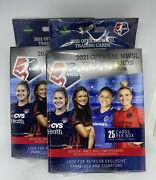 2x 2021 Official Nwsl Trading Cards Premier Edition Hanger Box Womens Soccer New