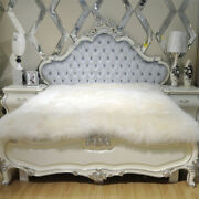 100 Pure Sheepskin Bed Mat 79 X 90 Inch Bed Cover Thick Fur Wool Plush Blanket
