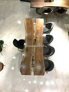 Center Dining Transparent Resin Epoxy Table Acacia Wooden Traditional Table Deco