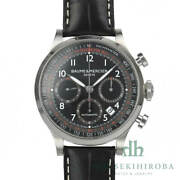 Used Baume Mercier Watch Capeland Chrono Dial Chronograph Automatic Menand039s Black