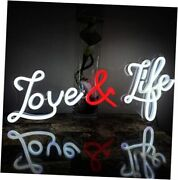 Love And Life Neon Signs Neon Lights Wall Decor Wall Sign Art Decorative Neon