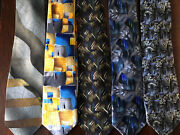 Jerry Garcia Lot Of 5 Silk Collectible Classic Abstract Signature Neckties