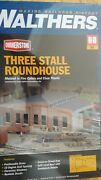 Walthers 933-3041 Ho Scale 3-stall Roundhouse