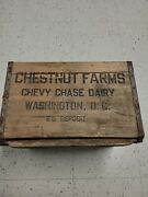 Chestnut Farms Chevy Chase Dairy Wood Milk Box Crate Circa 1950 🔥🔥🔥