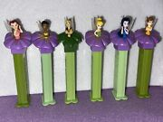 Pez Disney Fairies Set Of 6 Dispensers Tinkerbell New And Loose