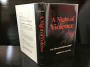 A Night Of Violence The Houston Riot Of 1917 By Robert V. Hay 1976 E-4