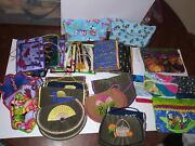 31 Piece Lot Quilted Handmade Wallet Coin Luggage Tag Tissue Cover Bag Purse Lot