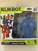 New Blue Klikbot Stop Motion Animation Action Figure Cosmo Zing