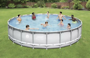 Coleman 22and039 X 52 Power Steel Frame Swimming Pool Set W/ Pump - Free Shipping