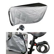 Bike Cover Covers Scooter Windproof Cover 5-digit Combination Lock