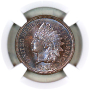 1905 Ms65 Bn Ngc Indian Head Penny Premium Quality Superb Eye Appeal