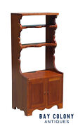 20th C Queen Anne Antique Style Cherry Cabinet / Cupboard
