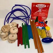 Tinker Toys Wooden Construction Junior Builder 59 Of 66 Piece Set Great Cond