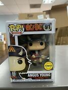 Funko Pop Music Ac/dc Angus Young Chase Figure 91 W/ Protector