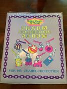 Vintage 1985 Imperial Charm Collectors Album Chains, Charms N' Things Purple