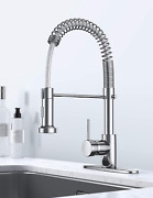Pull Down Kitchen Faucet Commercial Farmhouse Brass Single Lever Water Flow