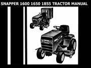 Snapper 1600 1650 1855 Service Manual For Tractor Workshop And Hydrostatic Repair