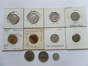 Argentina Coin Lot Of 14 Old And New Andndash All Different - Rare - 1949-2004 11aj