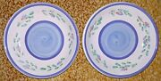 Vintage Caleca Italian Pottery Bowls Lot Of Two Hand Painted Made In Italy