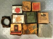 Lot Of 11 Antique Rod Bearings + Gm Tie Rod End And Starter Button Federal Mogul