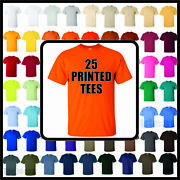 25 Printed 100 Cotton Tees - Front Print For Damron