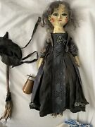 Queen Anne Wooden Repro Witch Doll
