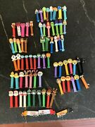 Pez Dispensers Lot Of 73 From Last 9 Years
